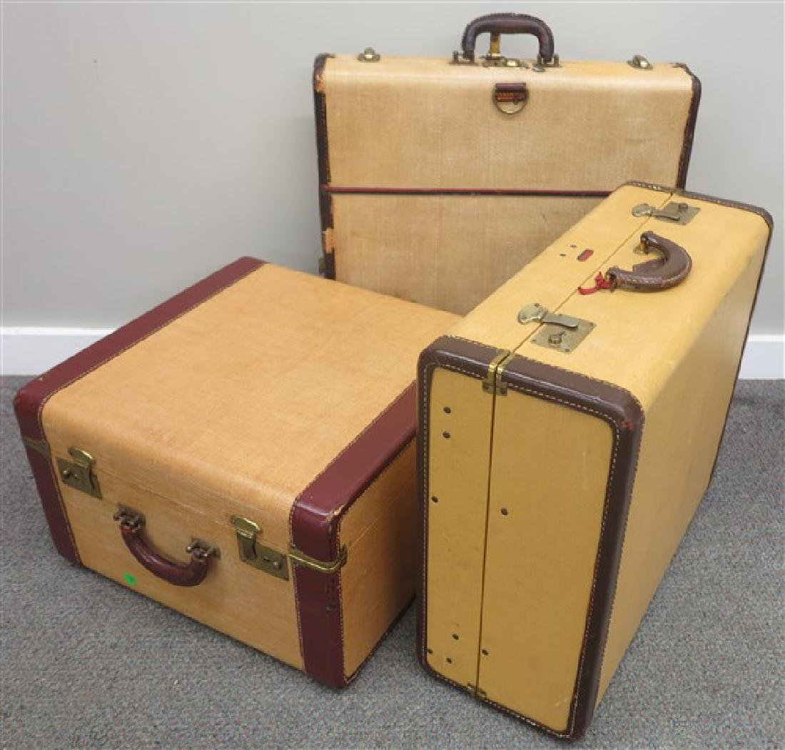 3 pieces of vintage luggage