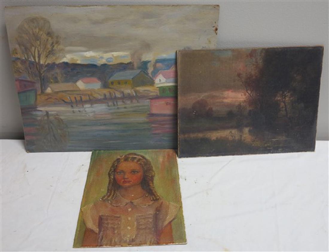 3 oil Paintings on Artist Board