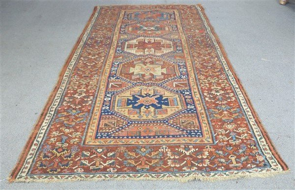 "Antique Persian Rug 4'10"" x 9'10"""
