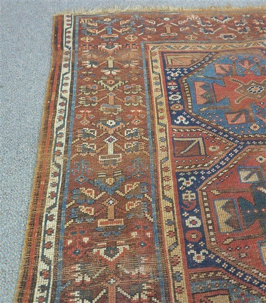 "Antique Persian Rug 4'10"" x 9'10"" - 3"