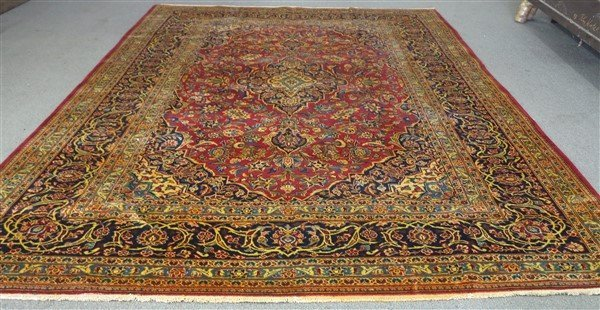 """Fine Persian Kashan 8'4"""" x 11'1"""""""
