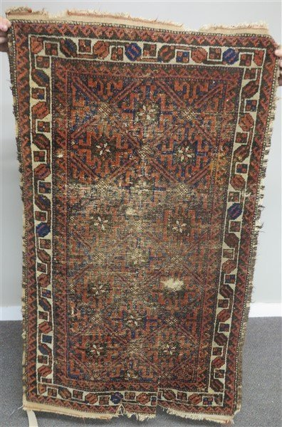 """Worn Persian Scatter 34"""" x 55"""" - 2"""