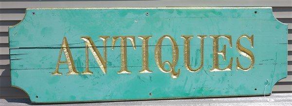 "71"" Antiques Sign"