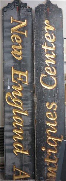 2 Part Antiques Sign - 2