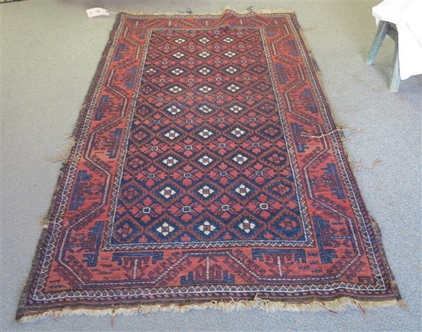 """Red Persian Rug 3'6"""" x 6'"""
