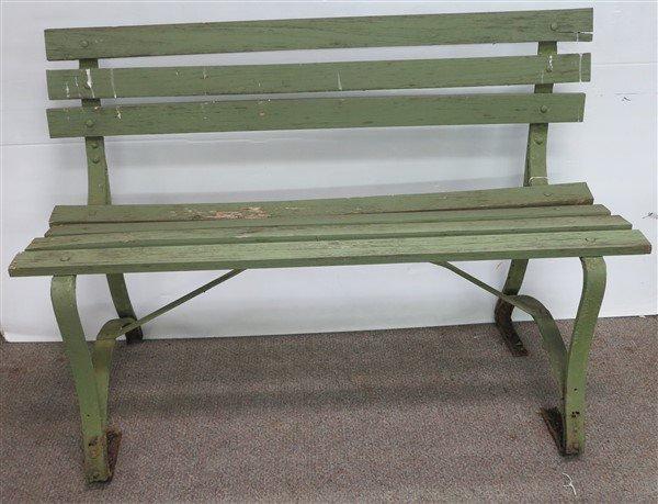 Iron & Wood Park Bench