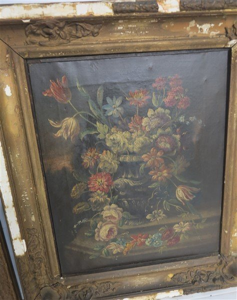 """Two 19th Cent Still lifes o/c 18"""" x 21"""" overall - 3"""