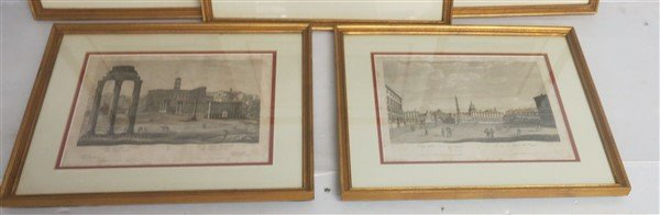 """6 Framed Classical Prints dated 1825 """"Old Print Shop"""" - 2"""