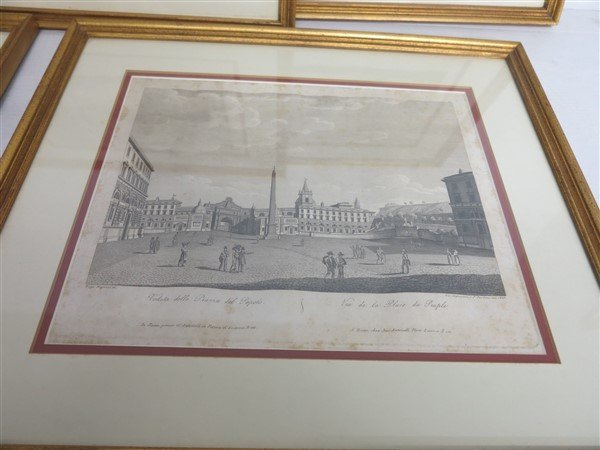 """6 Framed Classical Prints dated 1825 """"Old Print Shop"""" - 3"""
