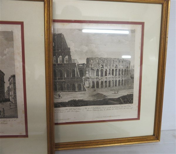 """6 Framed Classical Prints dated 1825 """"Old Print Shop"""" - 5"""