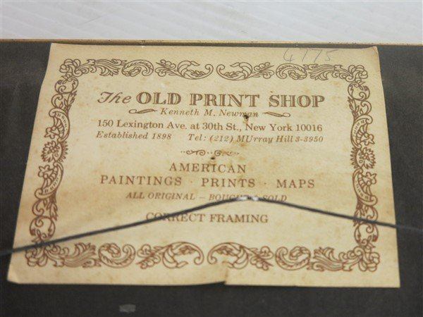 """6 Framed Classical Prints dated 1825 """"Old Print Shop"""" - 7"""