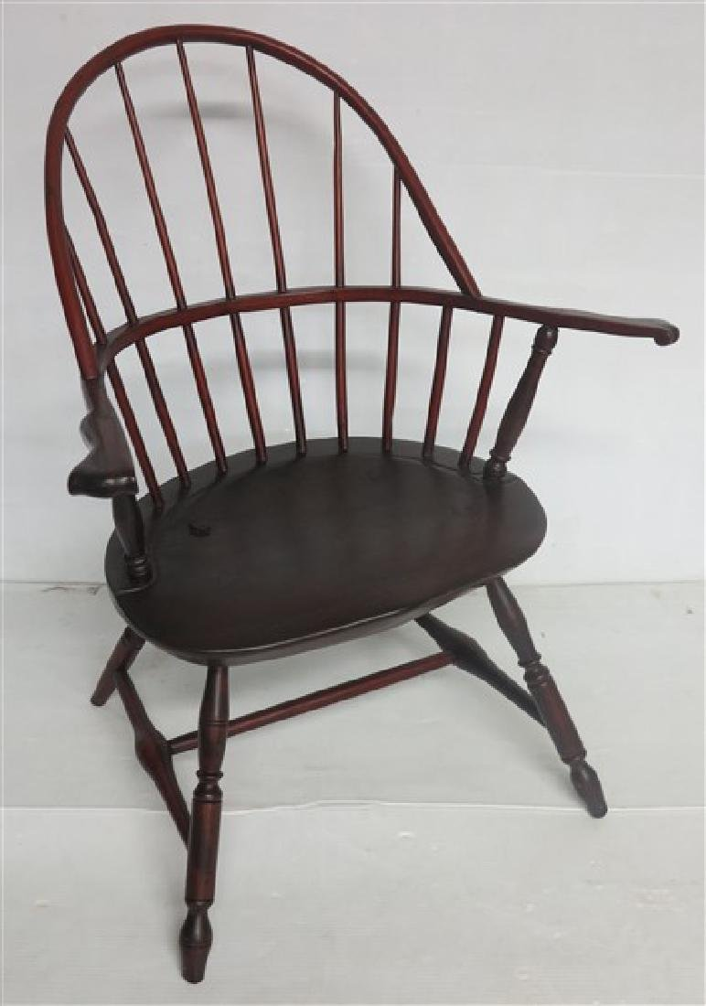 Knuckle Arm 18th Cent Windsor Arm Chair