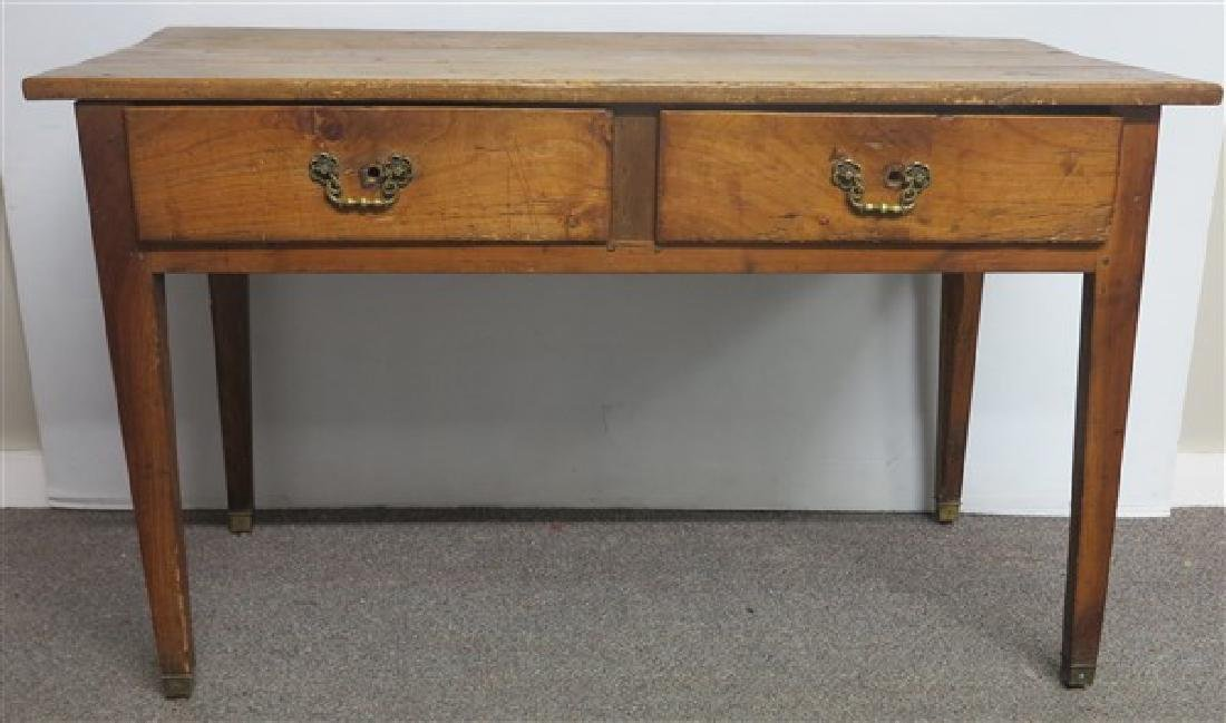 19th Cent 2 Drawer Country French Writing Table