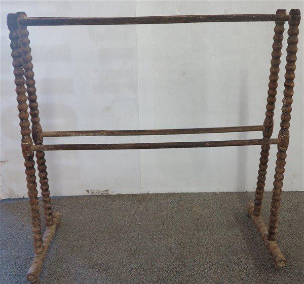 3 antique quilt racks - 3