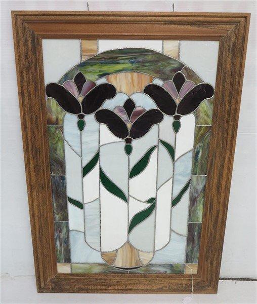 Lovely Framed Stained Glass Panel