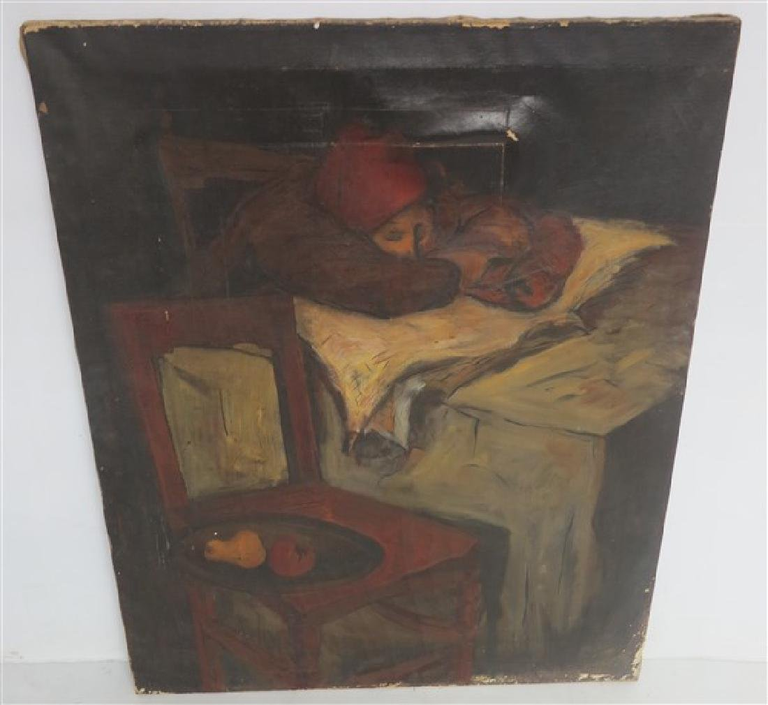 "19th Cent unframed o/c 30"" x 36"""