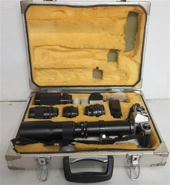 Pentax Camera Lot in Original Case