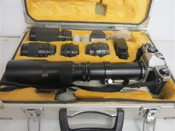 Pentax Camera Lot in Original Case - 2