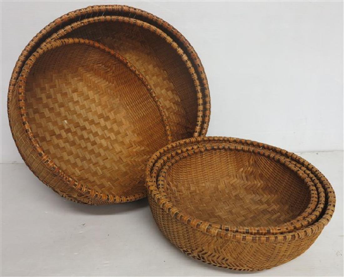 6 decorative nested baskets