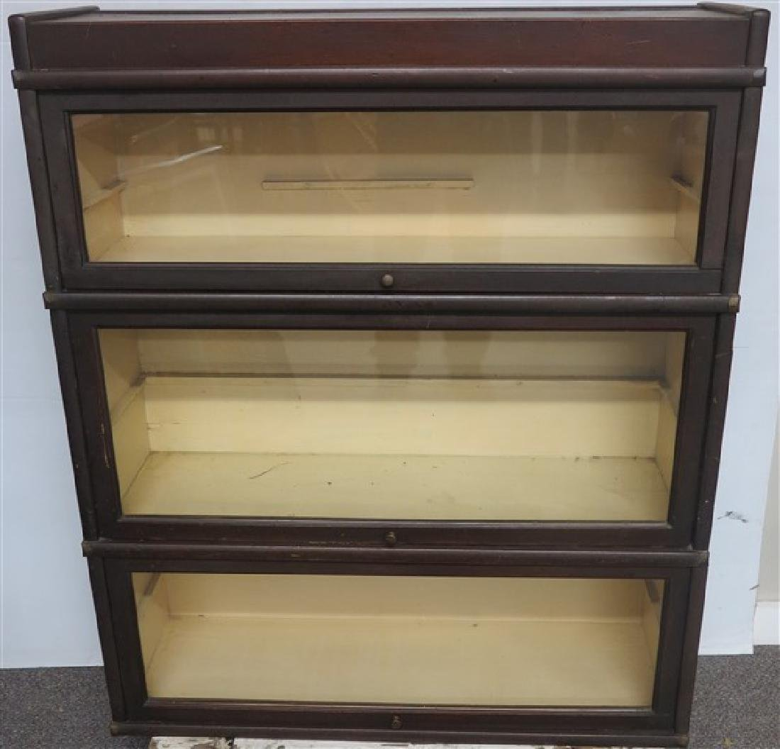 """3 section bookcase- 34"""" x 11"""" x 40.5""""h"""