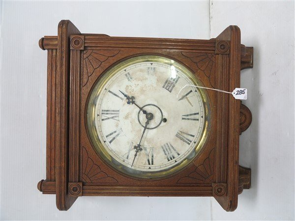 Carved Oak Kitchen Clock - 2