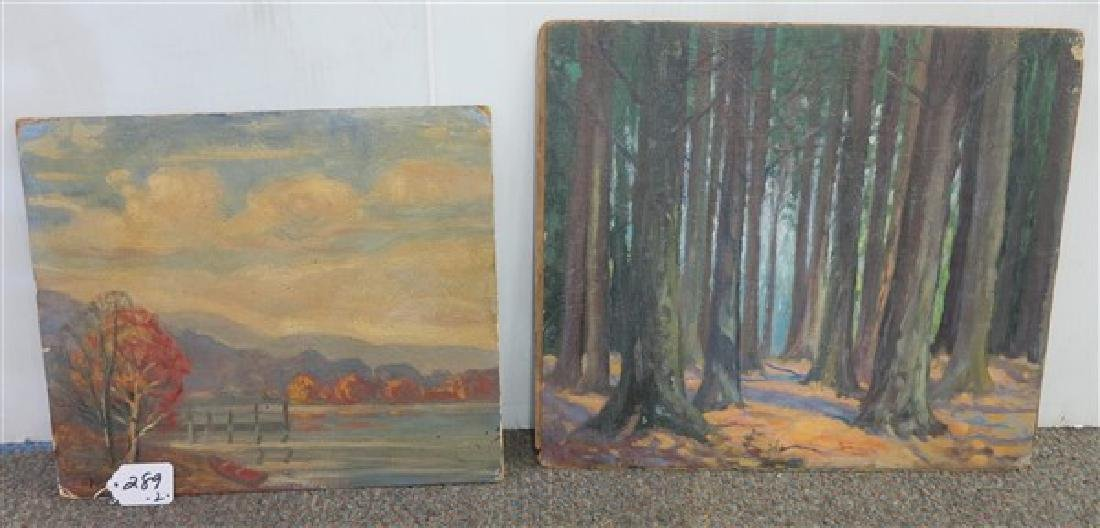 2 paintings Louise Kamp
