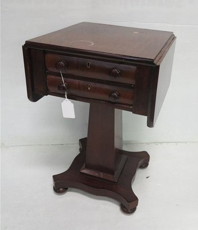 19th cent 2 drawer empire style stand