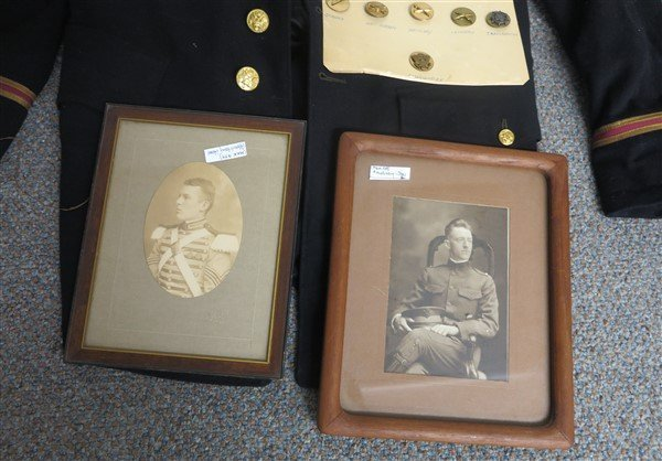 Military Lot- coat, buttons, photographs - 3