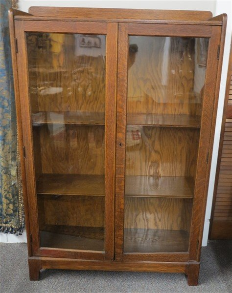 Oak Double Door Bookcase