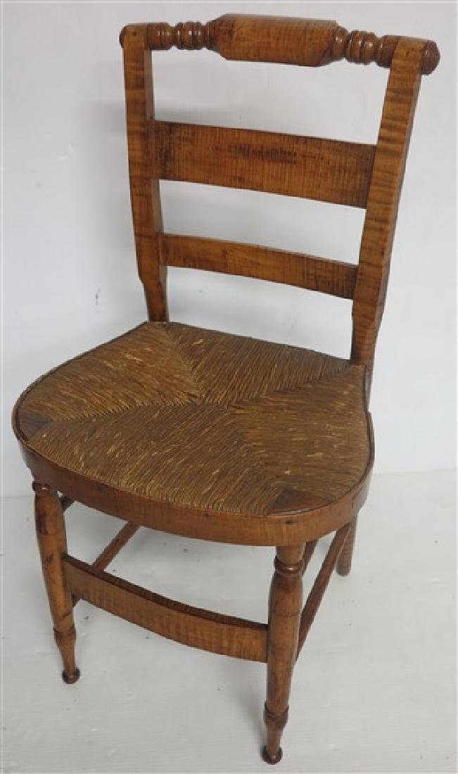Tiger maple side chair