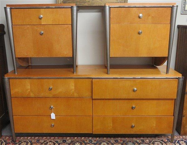 Bedroom set 6 drawer dresser & 2 night tables