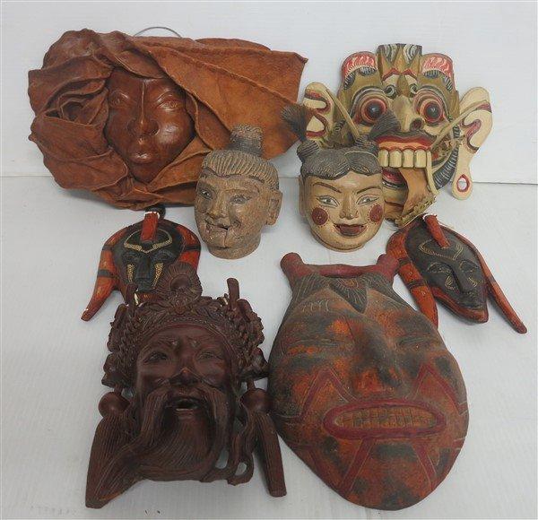 lot of masks