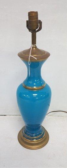 blue opaline lamp