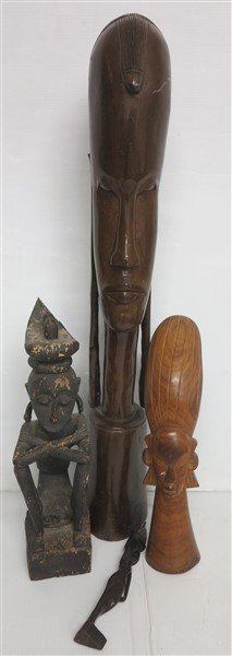 4 African statues