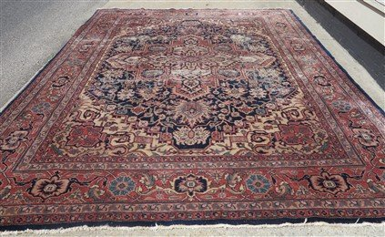 9' X 12' Persian with wear