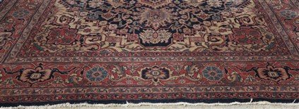 9' X 12' Persian with wear - 2