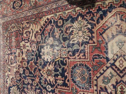 9' X 12' Persian with wear - 4