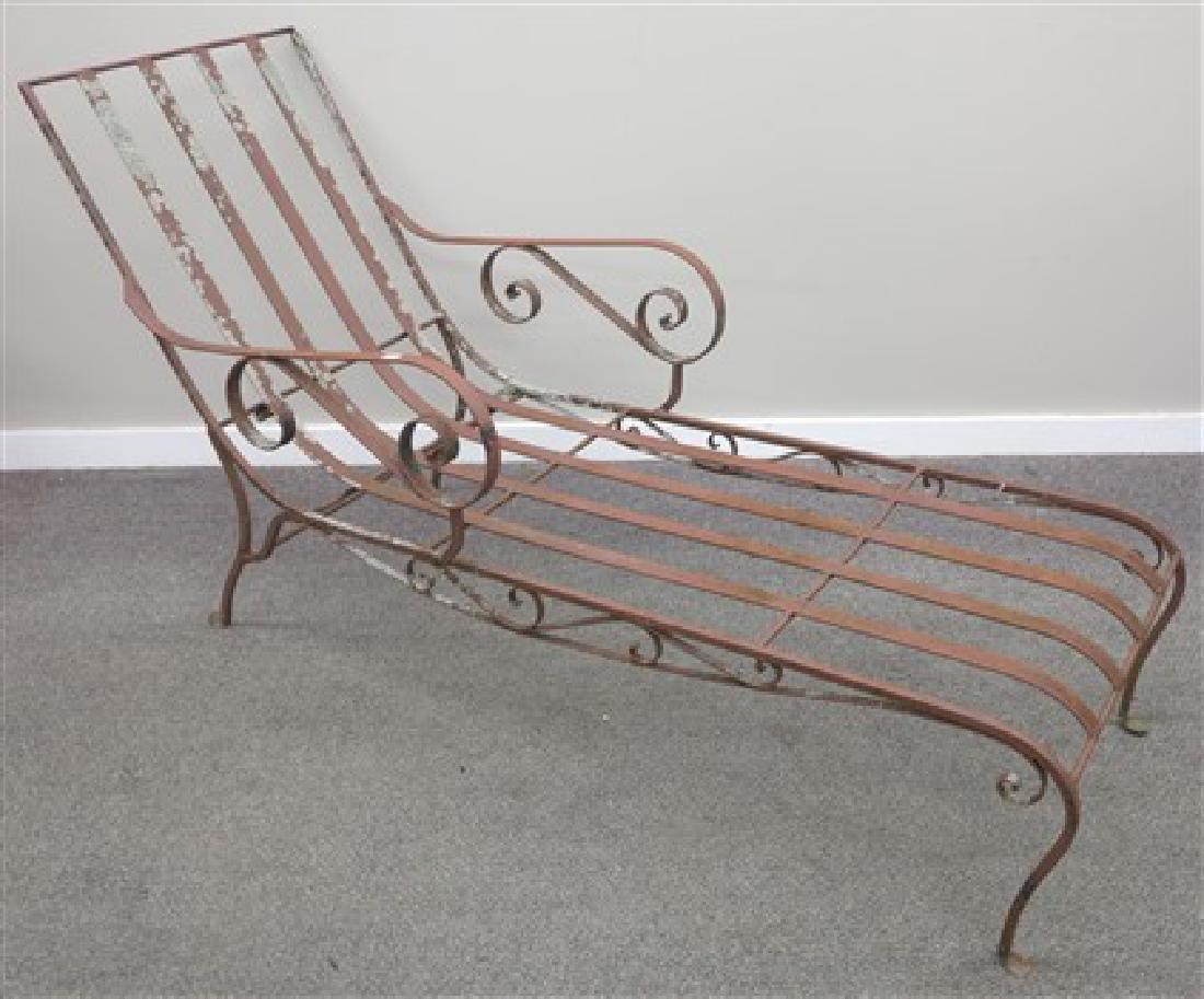 Iron chaise