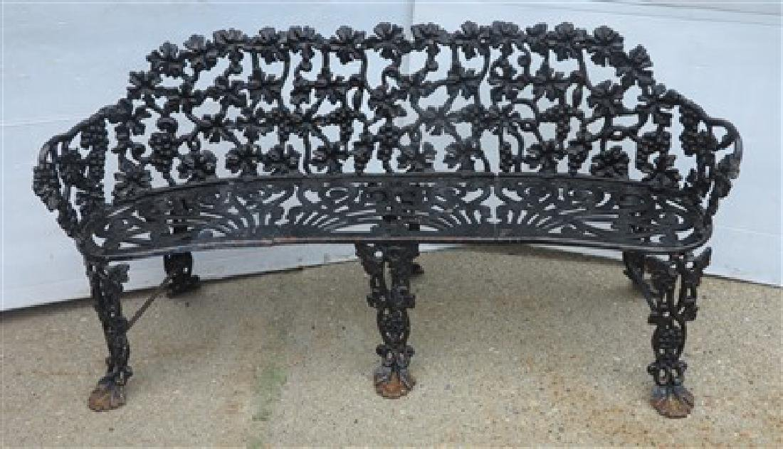 Cast iron Victorian garden bench