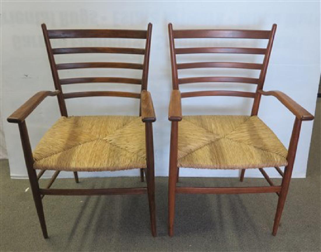 Pair mid-century Italian armchairs