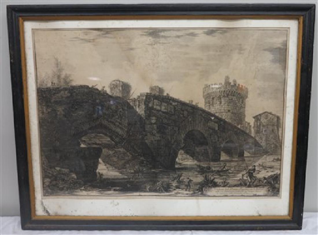 Framed Piranesi print