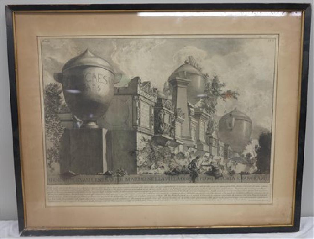 Piranesi framed print