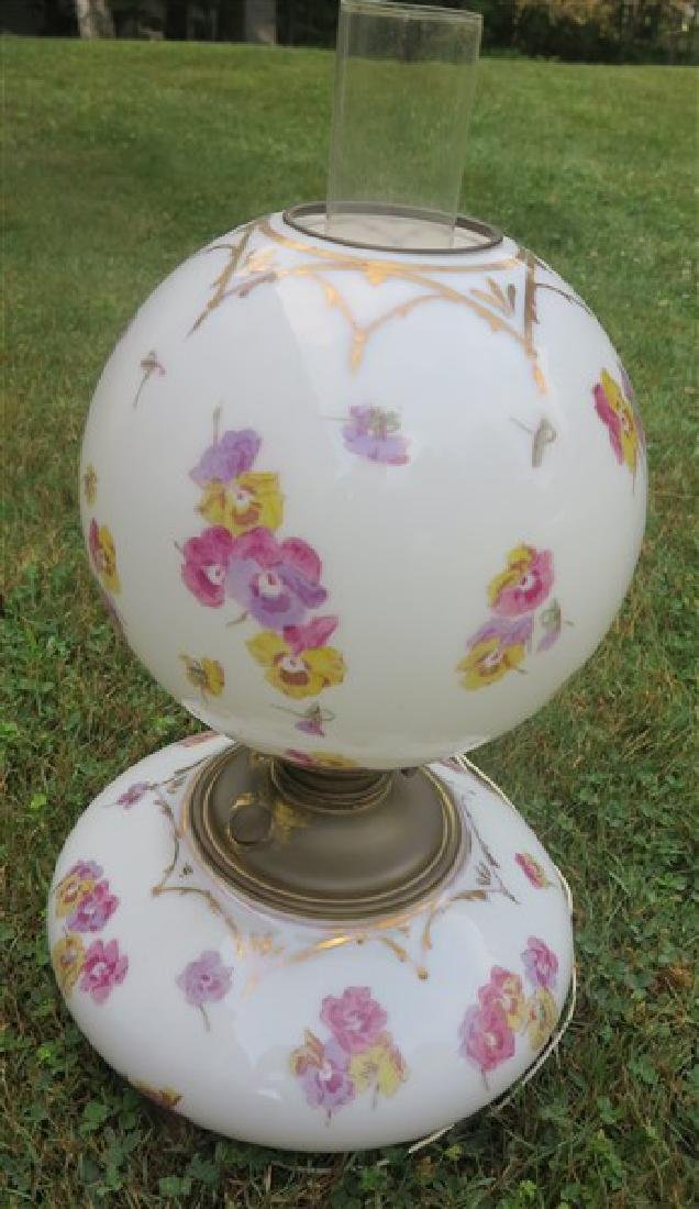 Exceptional hand painted lamp