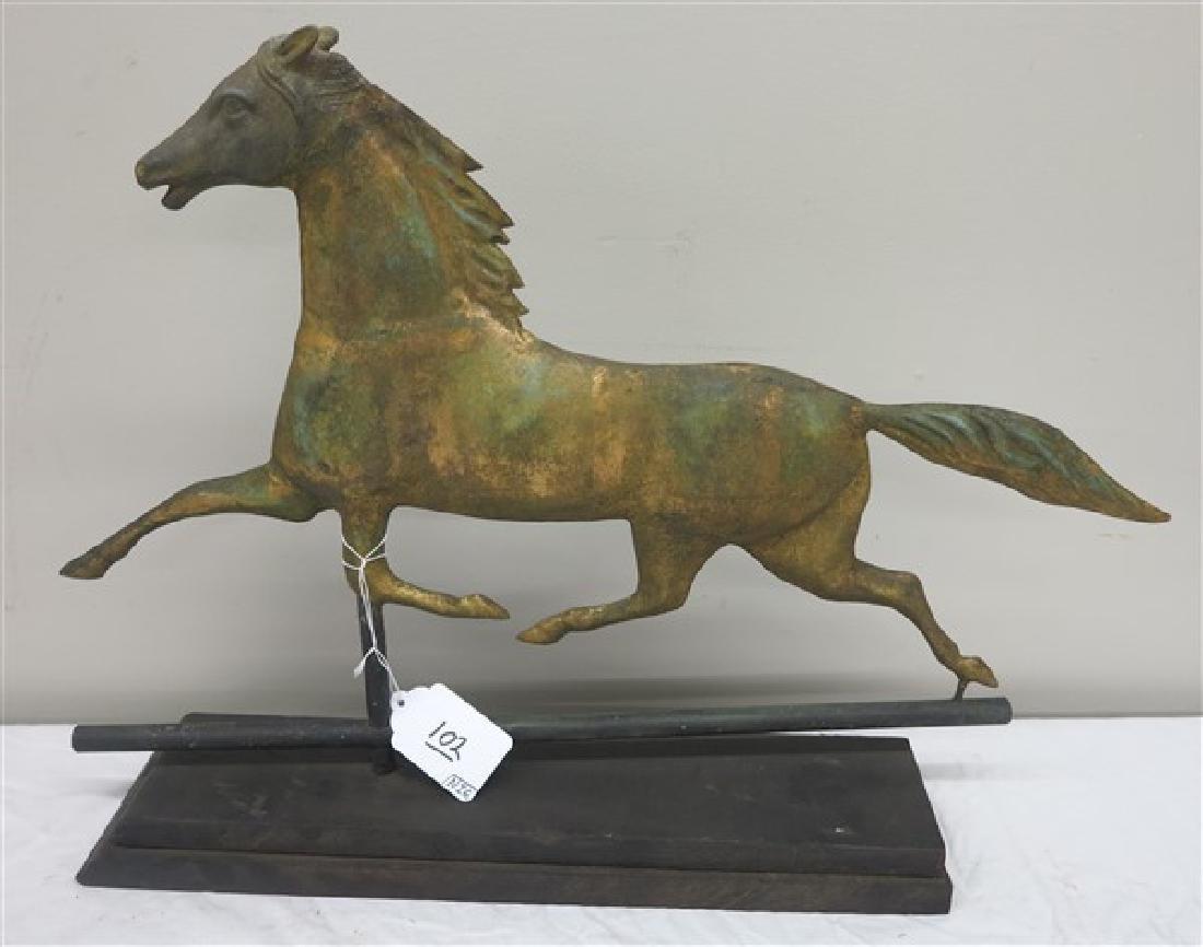 Running horse weathervane
