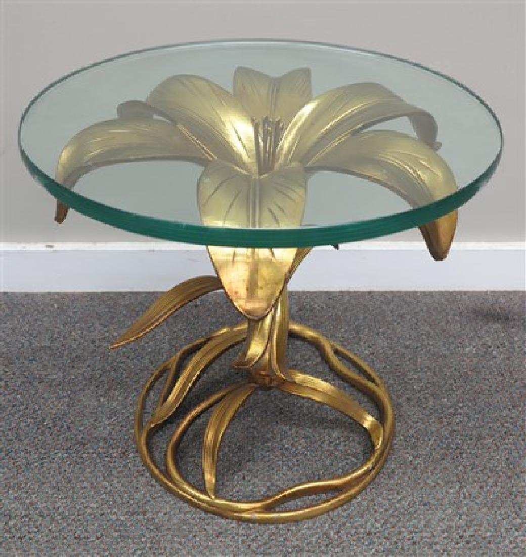 Small iron and glass table