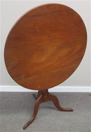 Maple tilt top 19th century tea table