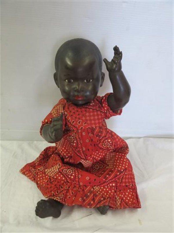 Black doll signed France