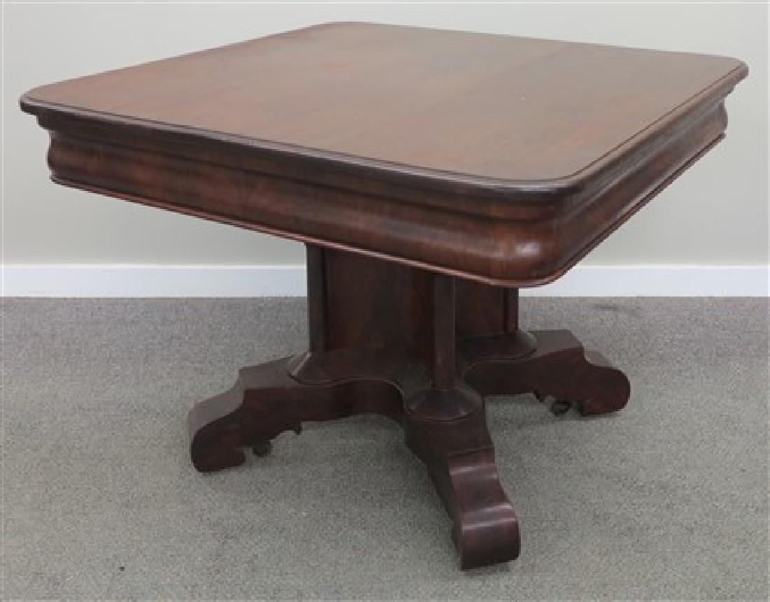 Empire mahogany center table