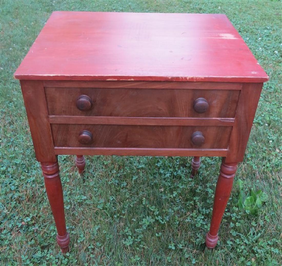 2 drawer 19th century stand