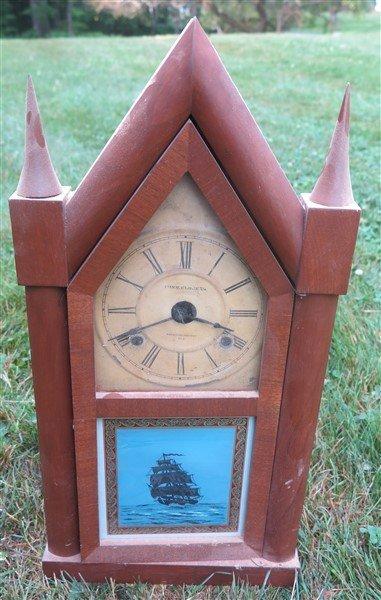2 Steeple clocks